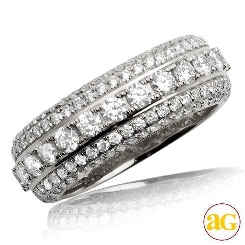 14KW 2.50CTW DIAMOND MENS 1/2 ETERNITY BAND