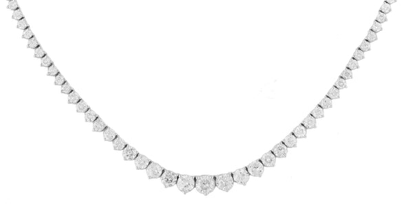 14KW 9.65CTW DIAMOND FANCY NECKLACE