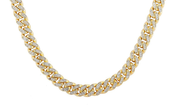 10KY 23.65CTW DIAMOND MIAMI CUBAN CHAIN