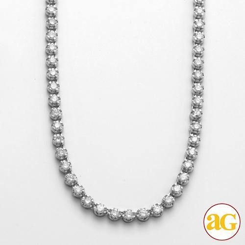 10KW 8.35CTW DIAMOND BUTTERCUP TENNIS NECKLACE