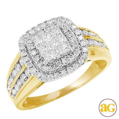 10KY 1.00CTW DIAMOND FANCY RING