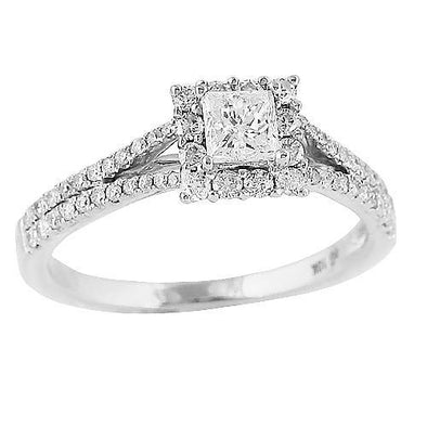 14KW 1.00CTW DIAMOND RING [0.40CT CTR]