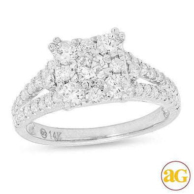 14KW 1.25CTW FANCY DIAMOND RING