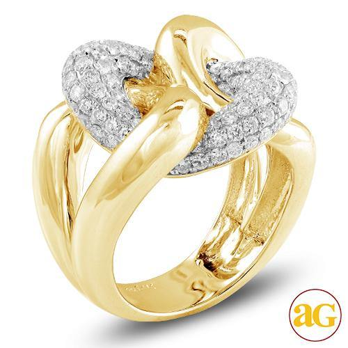 14KY 1.75CTW DIAMOND LADIES FANCY RING