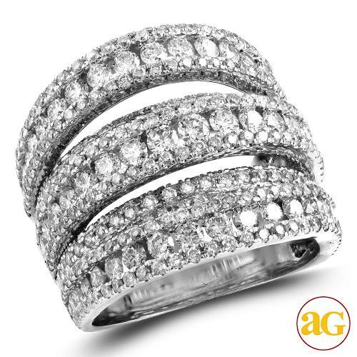 14KW 3.50CTW DIAMOND FANCY LADIES RING