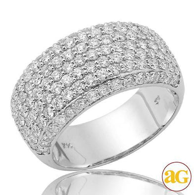 14KW 1.80CTW PAVE DIAMOND LADIES BAND