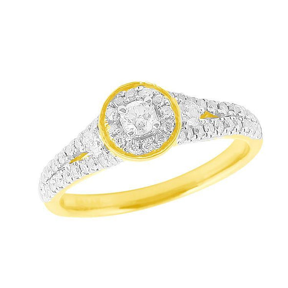 14KY 0.65CTW DIAMOND LADIES RING