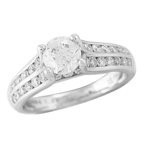 PLATINUM 0.85CTW DIAMOND SEMI MOUNT RING