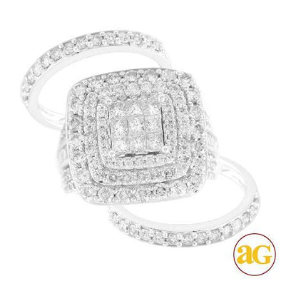 14KW 4.25CTW DIAMOND LADIES RING