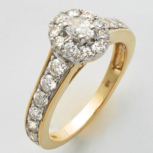 14KY 1.35CTW DIAMOND OVAL SHAPE BRIDAL