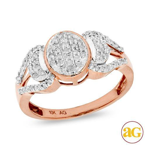 10KR 0.35CTW DIAMOND LADIES RING