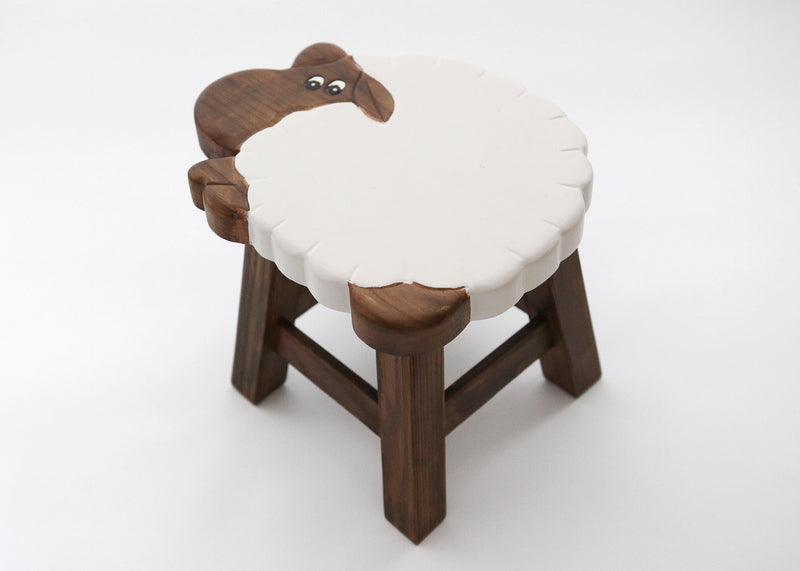 WOODEN SHEEP STOOL
