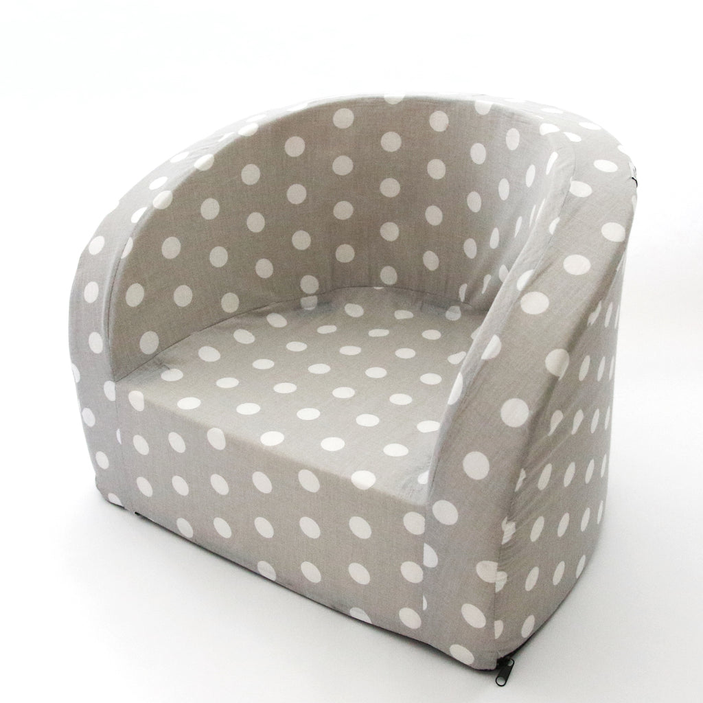 SOFT ARMCHAIR GREY POLKA DOTS