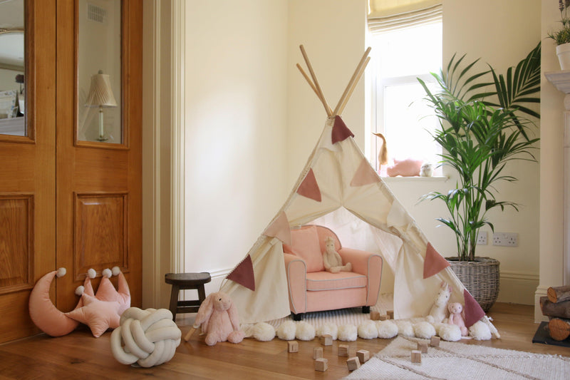 Childs teepee playroom Lucy and me