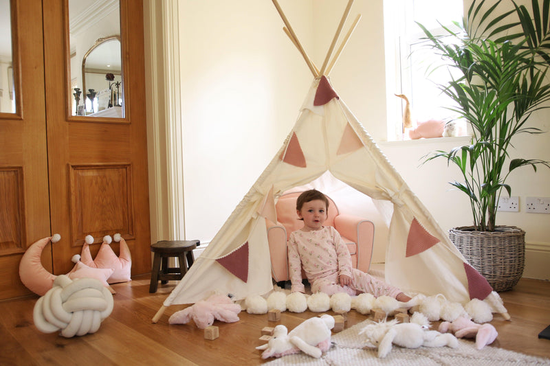 Childs teepee nursery Lucy and me