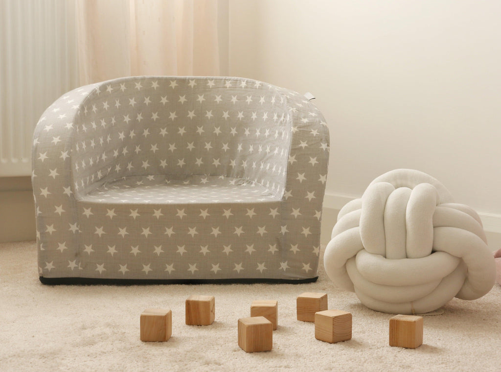 SOFT ARMCHAIR GREY STARS