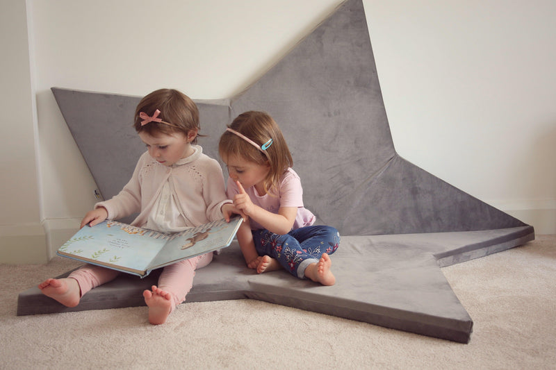 Star play mat grey Childs bedroom Lucy and me