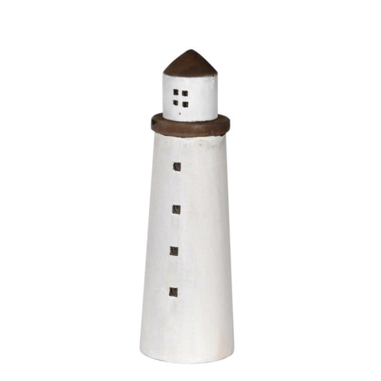 SMALL WOODEN LIGHT HOUSE