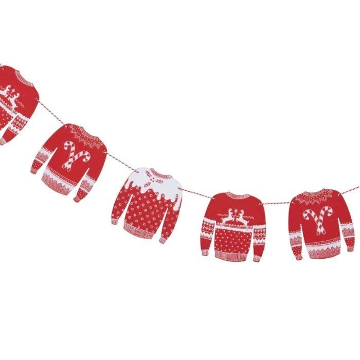 FESTIVE CHRISTMAS JUMPER WOODEN BUNTING