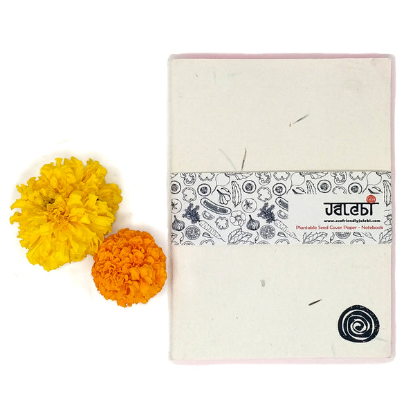 Marigold Plantable Seed Cover Paper-Notebook