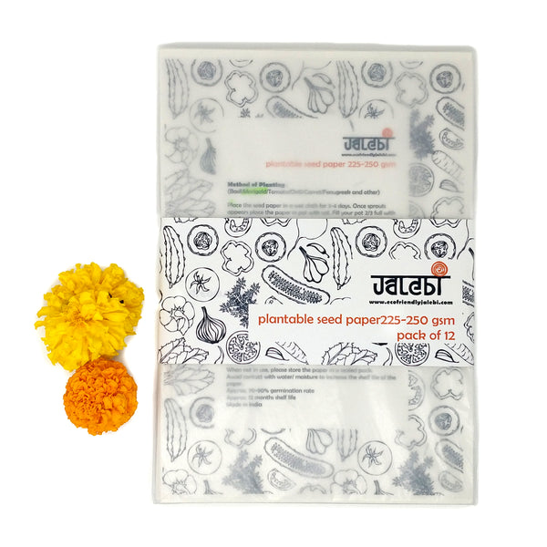 Marigold Plantable Seed Cover Paper