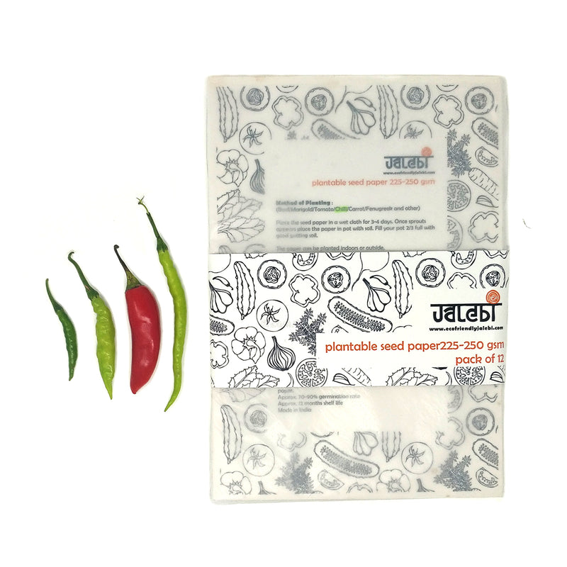 Chilli Plantable Seed Cover Paper