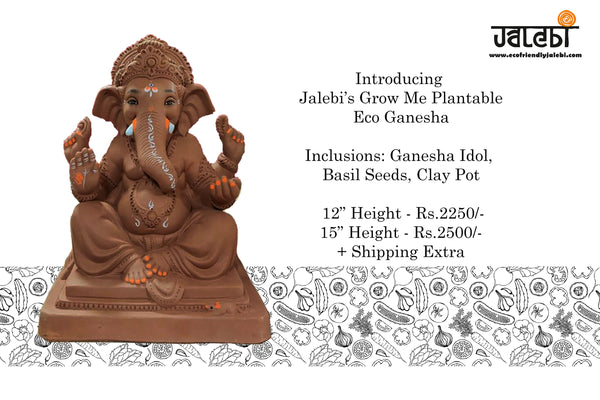 Grow Me Plantable Ecofriendly Ganpati (12 inch)