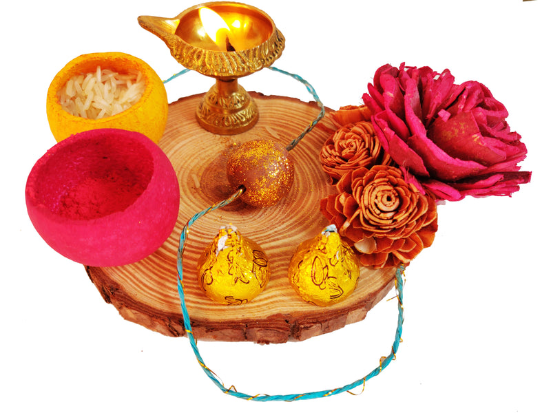 Plantable Seed Rakhi Platter (Set of 2 Rakhi)