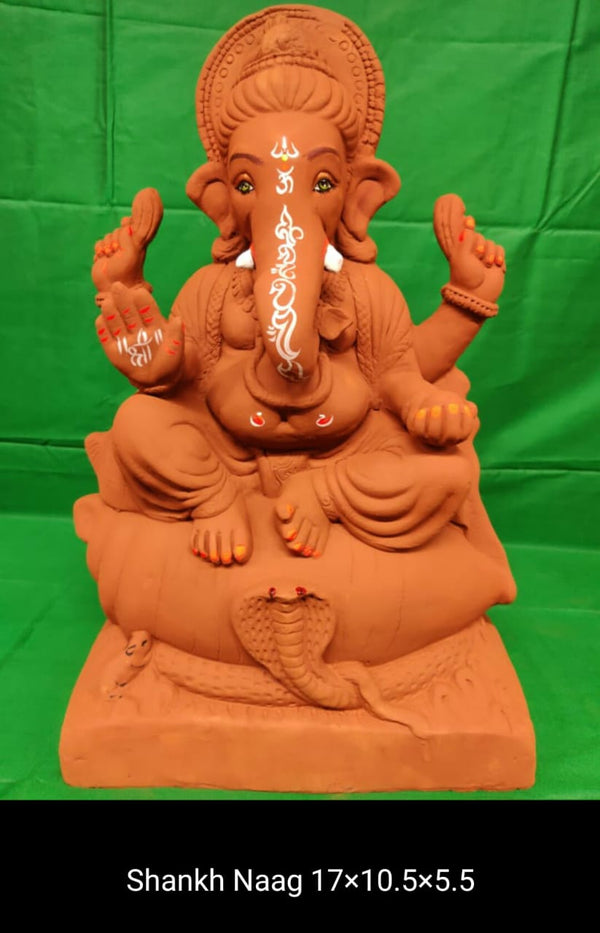 Grow Me Plantable Ecofriendly - Shankh & Naag Ganpati (17 inch)