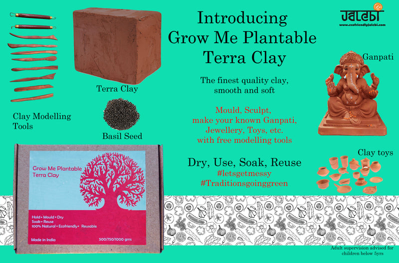 Grow Me Plantable Terra Clay