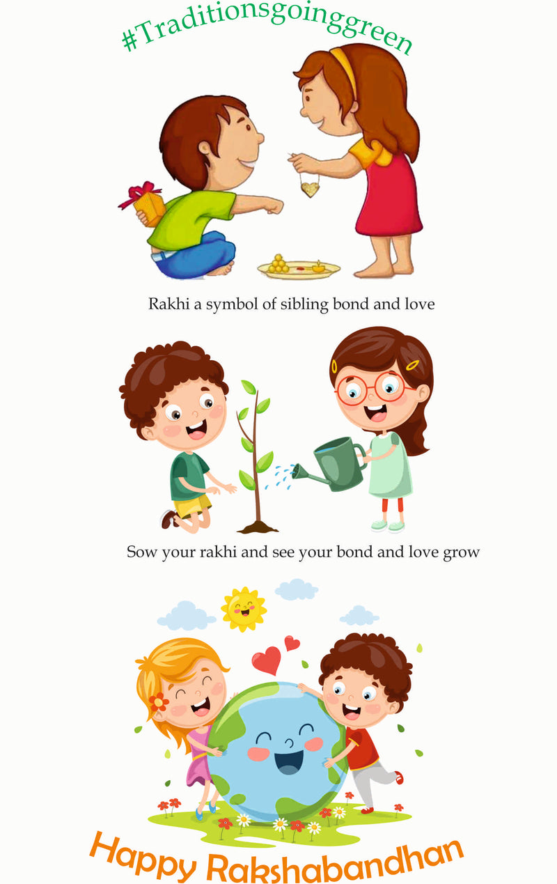 Grow Me Plantable Seed Rakhi Alphabets