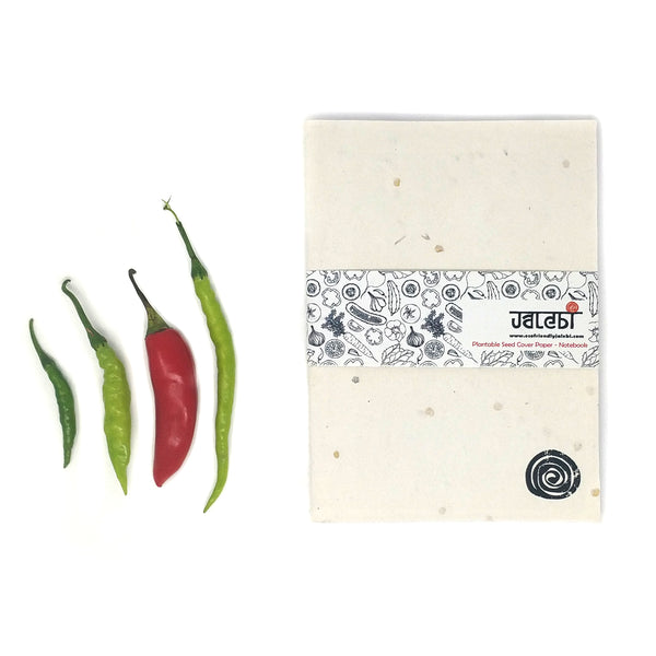 Chilli Plantable Seed Cover Paper- Notebook
