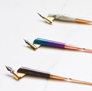 colourful handmade calligraphy pens