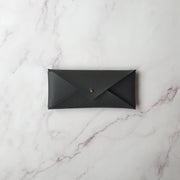 Leather Stationery Envelope - Slate