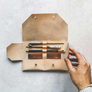 handmade leather pencil case