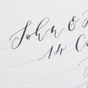 Envelope Calligraphy Guide