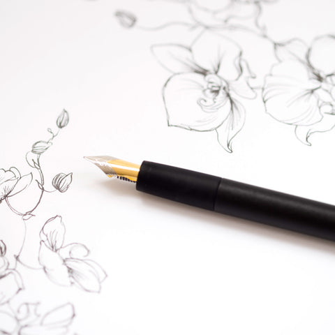Sumi - Flex Fountain Pen, Black Edition