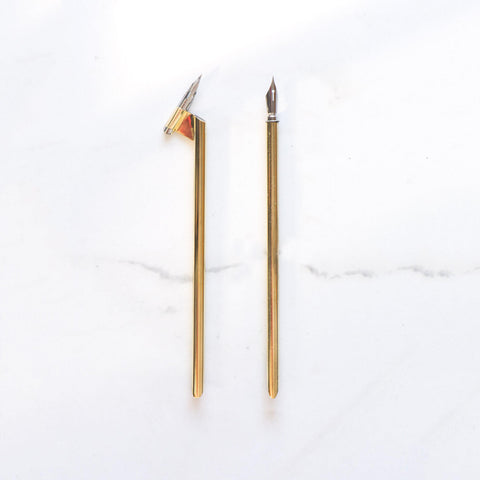 Minimal Brass calligraphy nib Holder