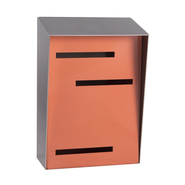 Mid Century Modern Mailbox - Vertical - Handmade in the USA - Small, Accessories - Molecule Design - www.molecule-design-online.com