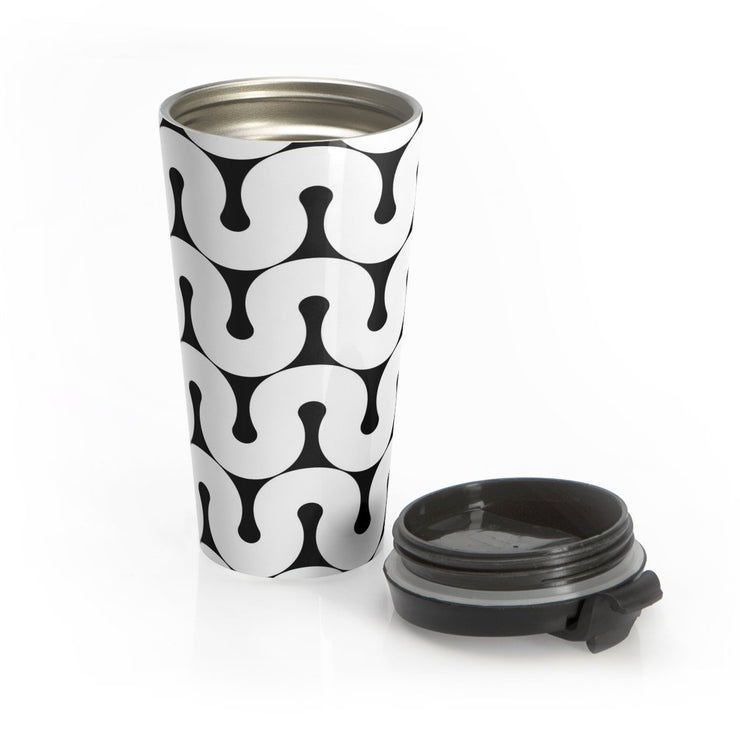 Groovy Stainless Steel Travel Mug, [Molecule Design]