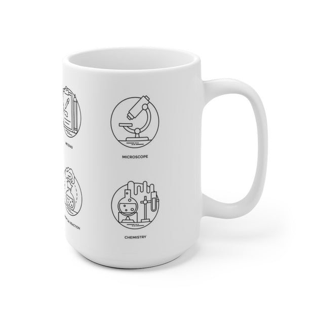 Science Pictograms Mug, [Molecule Design]