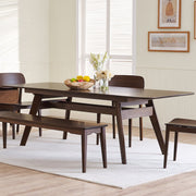"Currant 72 - 92"" Extendable Dining Table, [Molecule Design]"