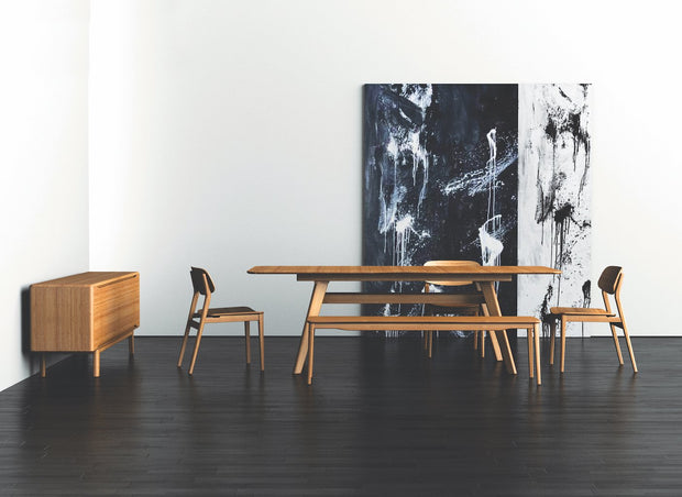 "Currant 72 - 92"" Extendable Dining Table - Molecule Design-Online"