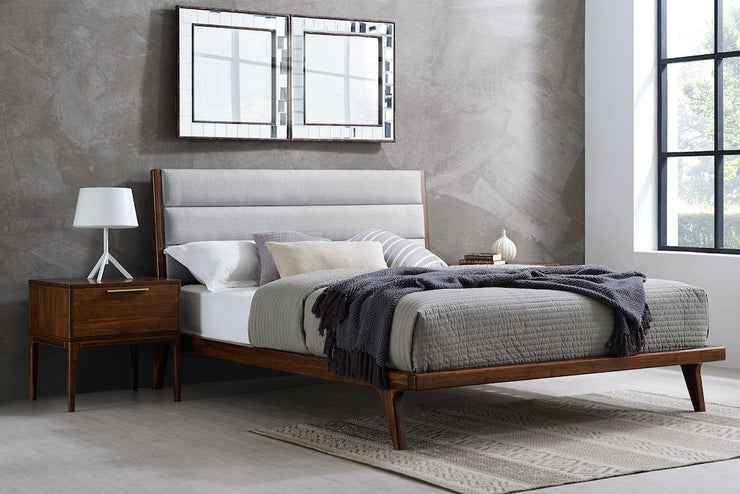 Mercury Upholstered Platform Bed, [Molecule Design]