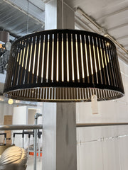 "Floor sample - Solis Drum Pendant Lamp - 24""/Blk -- Santa Fe delivery only - Molecule Design-Online"