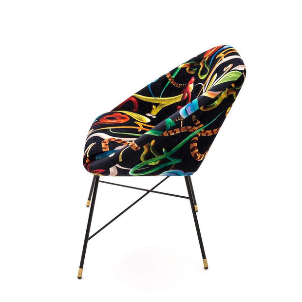 Toiletpaper - Snakes Padded Chair, [Molecule Design]