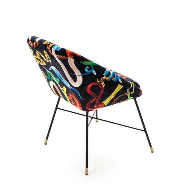 Toiletpaper - Snakes Padded Chair - Molecule Design-Online