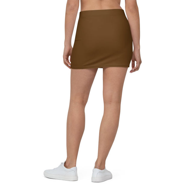 Brown Mini Skirt - Molecule Design-Online