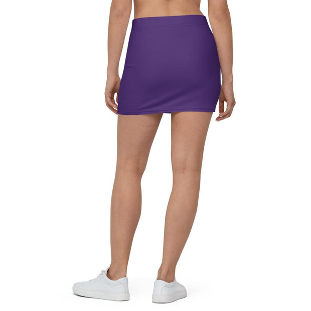 Purple Mini Skirt - Molecule Design-Online