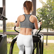Grey Twill Sports Bra - Molecule Design-Online